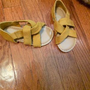 Yellow/ goldfish Sandals